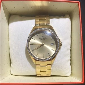 Kate Spade Seaport Grand Crystal Bezel Watch